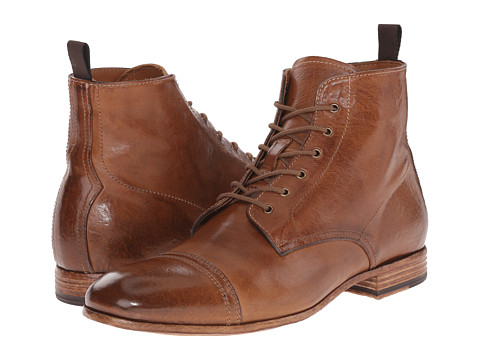 Incaltaminte Barbati Alexander McQueen Washed Lace Up Boot Brown