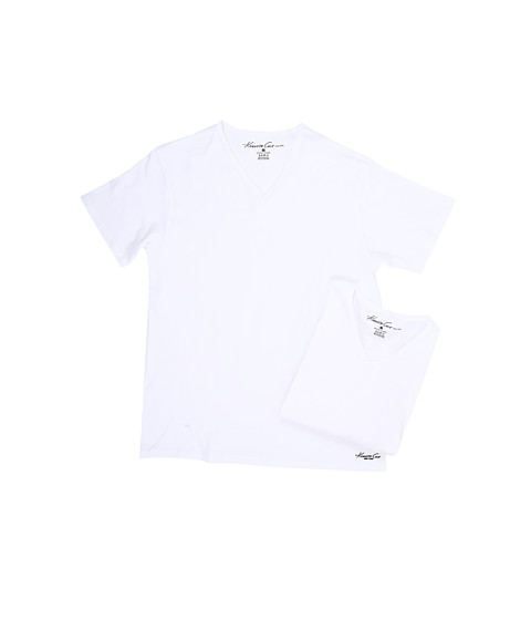 Imbracaminte Barbati Kenneth Cole Reaction V-Neck Super Fine Cotton Tee - 2-Pack White