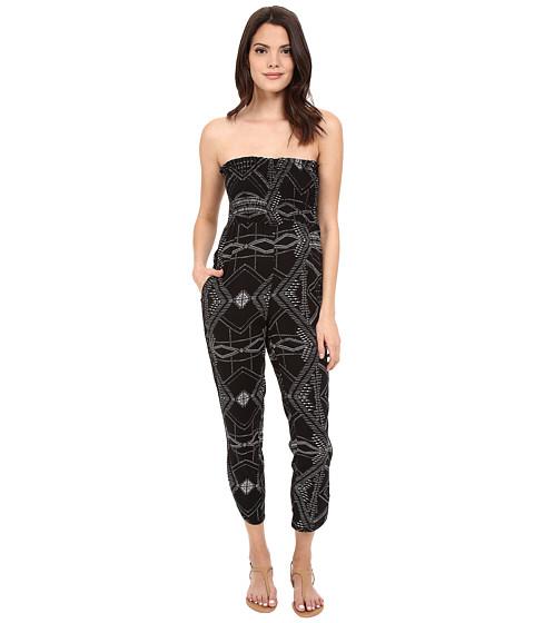 Imbracaminte Femei Michael Stars Alameda Print Smocked Jumpsuit Black