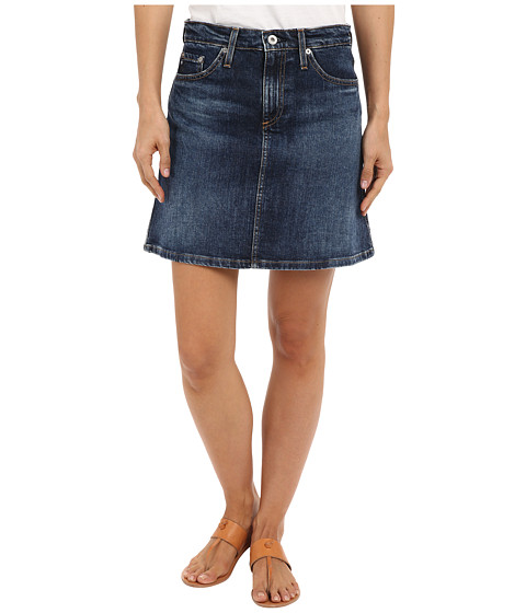 Imbracaminte Femei AG Adriano Goldschmied The Ali A-Line Mini Denim Skirt in Indigo Indigo