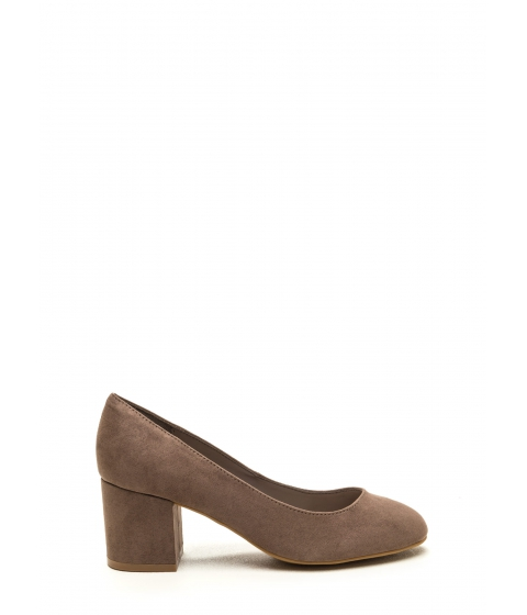 Incaltaminte Femei CheapChic Office Chic Chunky Block Pumps Taupe