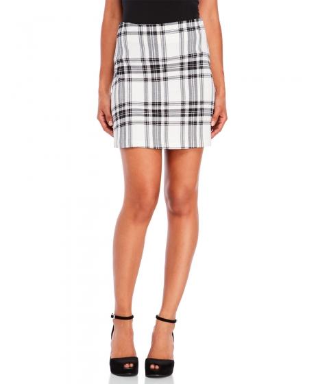 Imbracaminte Femei Necessary Objects Plaid Mini Skirt Ivory Black