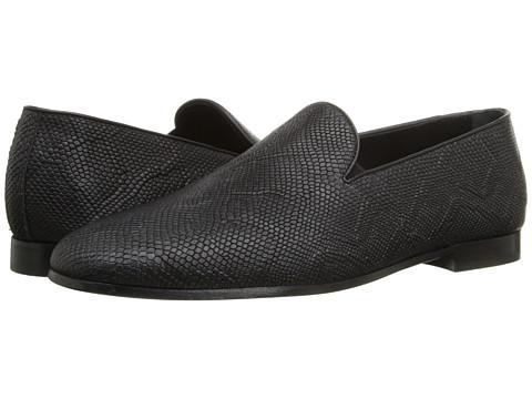 Incaltaminte Barbati Just Cavalli Snake Printed Leather Smoking Shoes Black