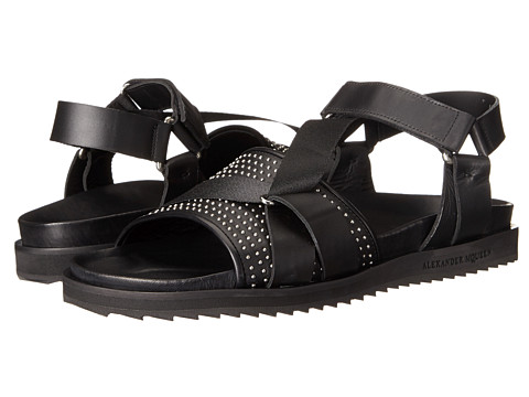 Incaltaminte Barbati Alexander McQueen Studded Strap Sandal Black