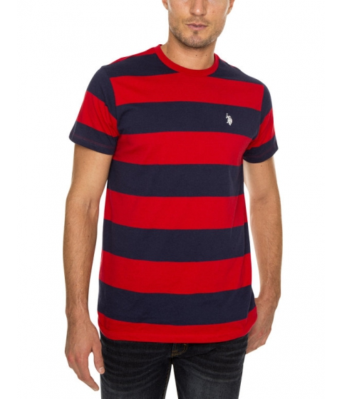 Imbracaminte Barbati US Polo Assn RUGBY STRIPE CREW TEE RED ACCENT