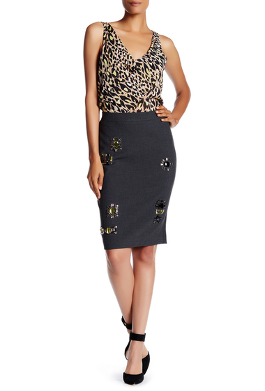 Imbracaminte Femei Trina Turk Dorris Skirt GRAPHITE