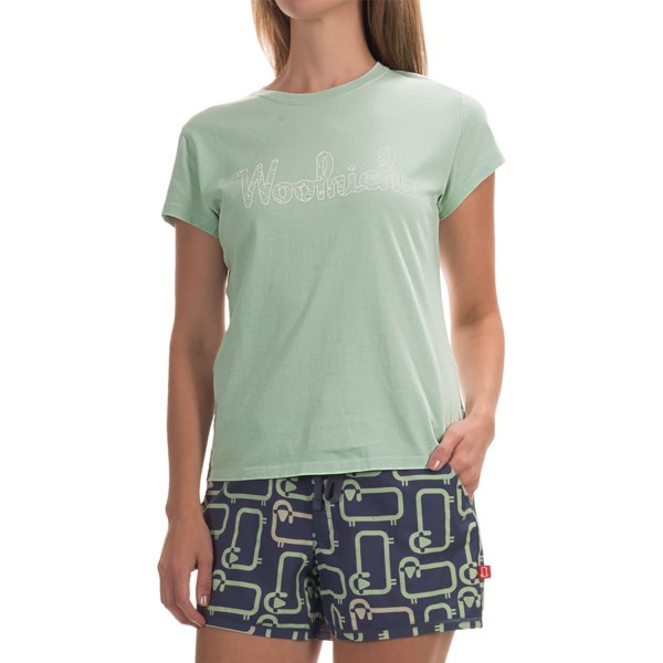 Imbracaminte Femei Woolrich Four Corners Graphic T-Shirt - Short Sleeve FRESH MINT (01)