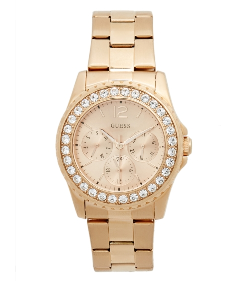 Ceasuri Femei GUESS Rose Gold-Tone Multifunction Watch no color