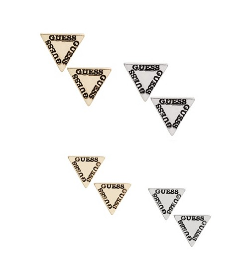 Bijuterii Femei GUESS Triangle Logo Earring Set multi