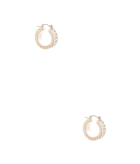 Bijuterii Femei GUESS Rose Gold-Tone Rhinestone Hoop Earrings rose
