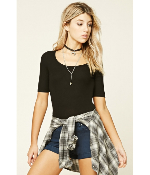 Imbracaminte Femei Forever21 Ribbed Knit Back Cutout Top Black