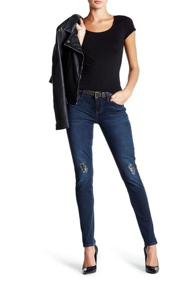 Imbracaminte Femei Seven7 Jeans Skinny Faux Leather Patch Jean TWAIN