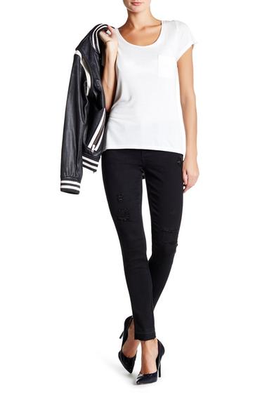Imbracaminte Femei Seven7 Jeans Skinny Raw Hem Distressed Jean POE