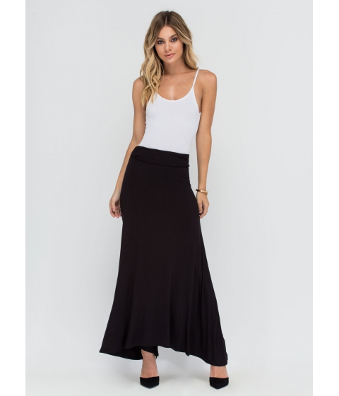Imbracaminte Femei CheapChic Simple As Can Be Ruched Maxi Skirt Black