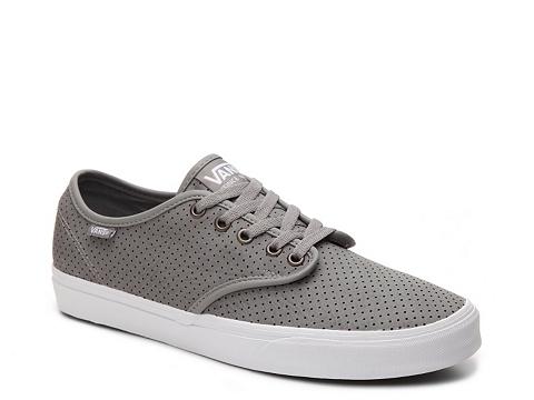 Incaltaminte Barbati Vans Camden Perforated Leather Sneaker - Mens Grey