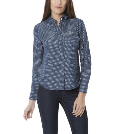 Imbracaminte Femei US Polo Assn Dot Denim Shirt Blue