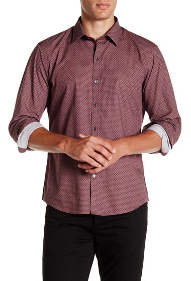 Imbracaminte Barbati Zachary Prell Rosenblat Long Sleeve Shirt BURGUNDY