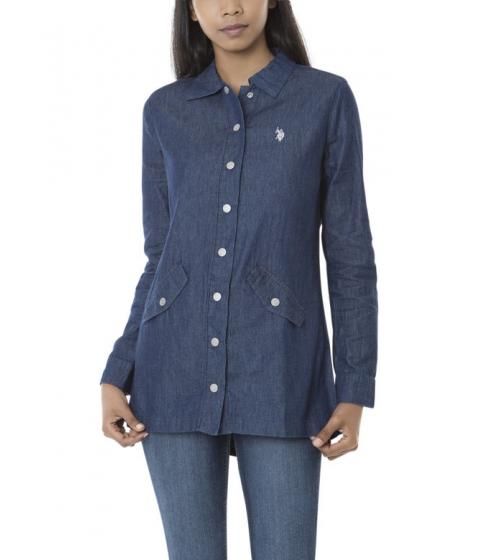 Imbracaminte Femei US Polo Assn Longline Anorak Jacket Blue