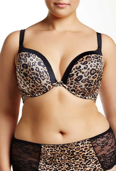Imbracaminte Femei Curvy Couture Animal Attraction Perfect Plunge Bra Plus Size Animal Print