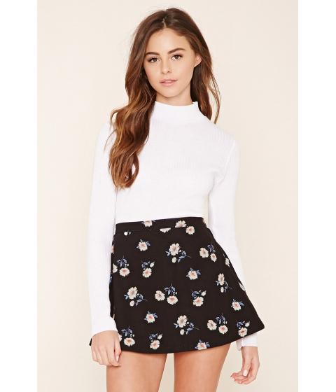 Imbracaminte Femei Forever21 Floral Denim Mini Skirt Blackcream