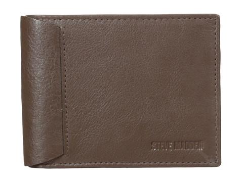 Genti Barbati Steve Madden Mocha Leather Passcase Wallet Brown