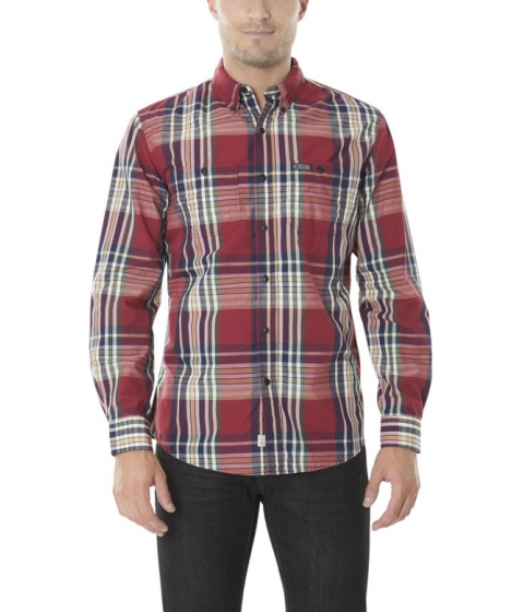 Imbracaminte Barbati US Polo Assn CLASSIC FIT LONG SLEEVE PLAID SHIRT UNIVERSITY RED