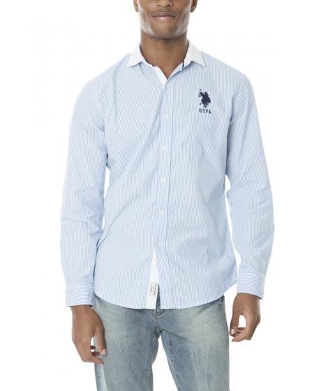 Imbracaminte Barbati US Polo Assn CLASSIC FIT LONG SLEEVE COTTON OXFORD REGATTA