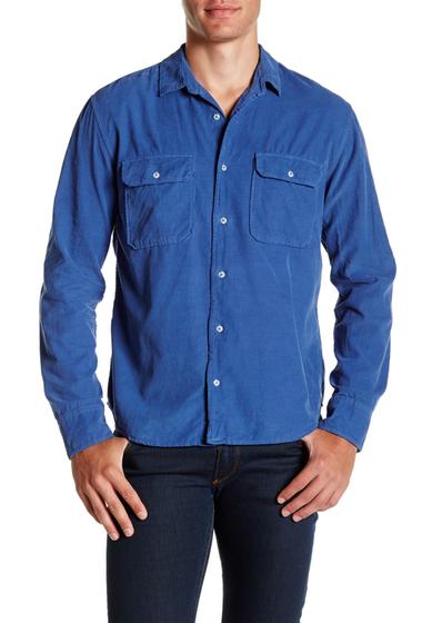 Imbracaminte Barbati SAVE KHAKI Long Sleeve Baby Cord Camp Shirt MOS BLUE