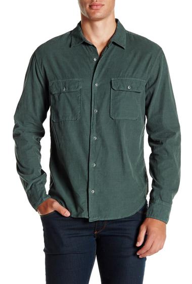 Imbracaminte Barbati SAVE KHAKI Long Sleeve Baby Cord Camp Shirt KALE GREEN