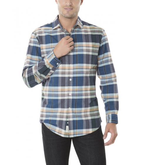 Imbracaminte Barbati US Polo Assn CLASSIC FIT LONG SLEEVE PLAID OXFORD Classic Navy