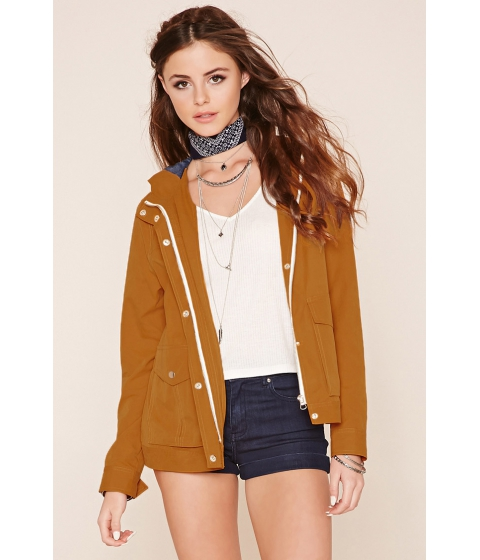 Imbracaminte Femei Forever21 Button-Front Utility Jacket Mustard