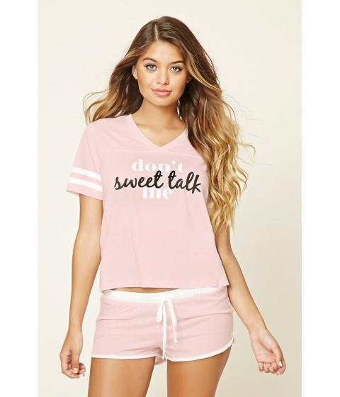 Imbracaminte Femei Forever21 Sweet Talk PJ Set Light pinkwhite