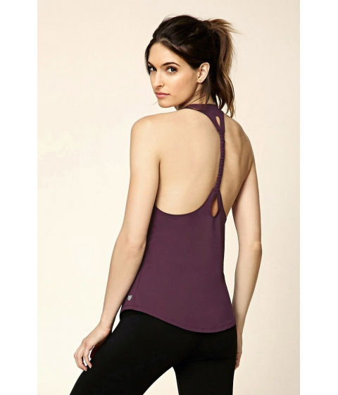 Imbracaminte Femei Forever21 Active Braided-Back Tank Eggplant