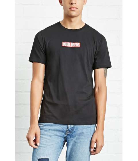 Imbracaminte Barbati Forever21 Good Deeds Graphic Tee Blackred