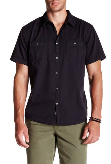 Imbracaminte Barbati Quiksilver The Bite Back Short Sleeve Modern Fit Shirt KVJ0-ANTHRACITE