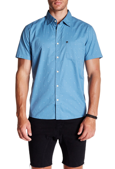Imbracaminte Barbati Quiksilver Everyday Mini Motif Short Sleeve Modern Fit Shirt BKT6-MINIMOTIFNIAGAR