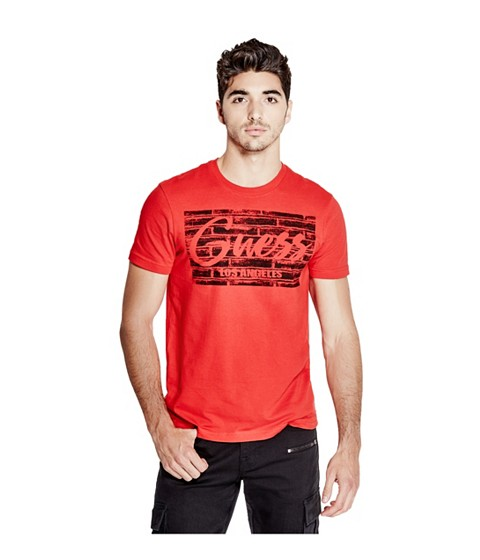 Imbracaminte Barbati GUESS Sab Logo Tee red hot