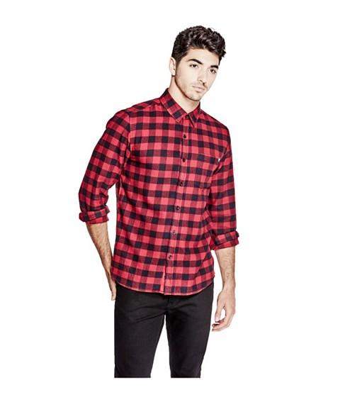Imbracaminte Barbati GUESS Homare Flannel Shirt havana red