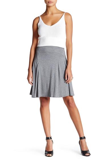 Imbracaminte Femei Max Studio Heather Jersey Flared Skirt HTHRSTEL