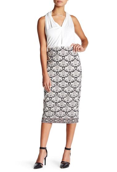 Imbracaminte Femei Max Studio Printed Ponte Midi Skirt PRCSTPLP