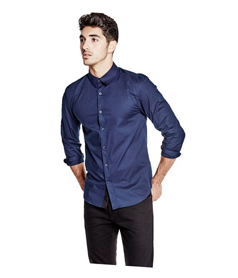 Imbracaminte Barbati GUESS Bowen Printed Slim-Fit Shirt ink