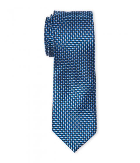 Accesorii Barbati Pierre Cardin Checked Natte Slim Silk Tie Royal
