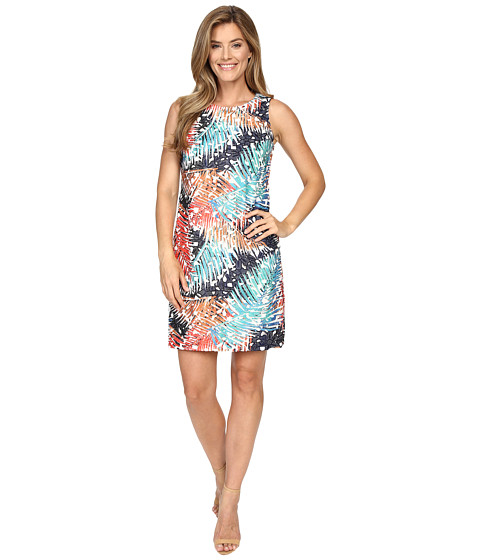 Imbracaminte Femei Vince Camuto Sleeveless Tropical Mystique Printed Lace Dress Evening Navy