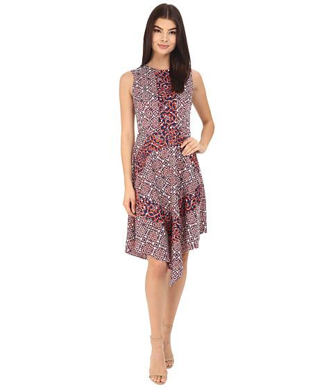 Imbracaminte Femei Donna Morgan Asymmetrical Hem Sleeveless Twill Midi Dress Headlight Multi
