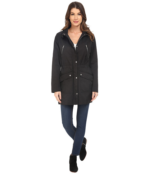 Imbracaminte Femei Cole Haan Anorak with Removable Hood and Adjustable Waist Black