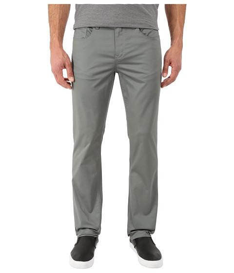 Imbracaminte Barbati Perry Ellis Slim Fit Solid Sateen Five-Pocket Pants Castor Gray