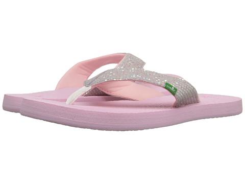 Incaltaminte Fete Sanuk Yoga Glitter (Little KidBig Kid) WhiteLight Pink