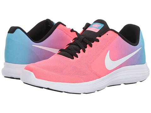 Incaltaminte Fete Nike Revolution 3 (Big Kid) Chlorine BlueWhiteRacer PinkBlack