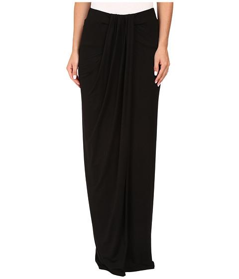 Imbracaminte Femei Three Dots Maxi Skirt w Drape Black