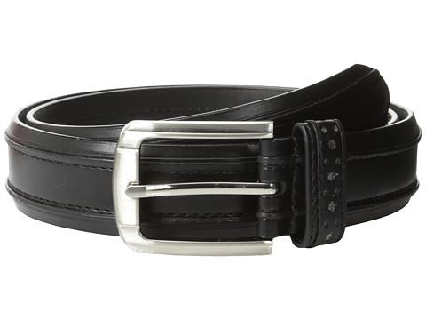 Accesorii Barbati Stacy Adams 32mm Genuine Leather Casual Belt w Raised Inner Edge Black